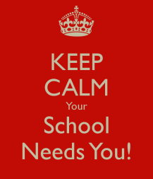 Your school needs you