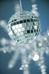 winter disco ball