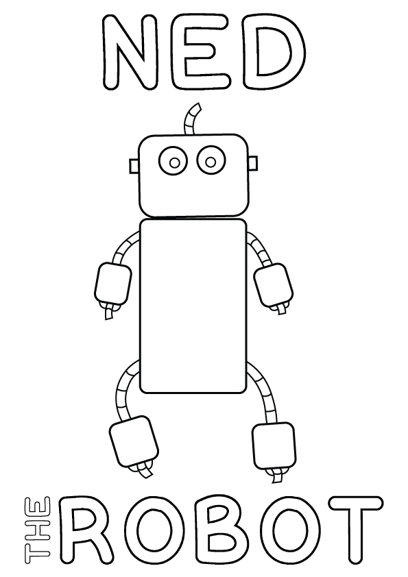 Ned the Robot Colour-in